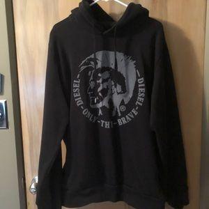 Diesel Industry Black Pullover Sweatshirt Sz XL